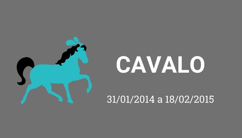 """Arte com fundo cinza e os escritos em branco """"cavalo. 31/01/2014 a 18/02/2015"""". No lado esquerdo há o desenho de um cavalo, pintado de azul."""