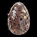 A superfície brilhante, decorada com folhas de ouro, é o primeiro sinal da qualidade deste chocolate que consegue ser ao mesmo tempo amargo e doce. Firme, na boca derrete fácil, deixando delicado gosto amanteigado.