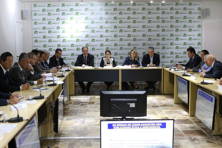 A deputada Raquel Cristina comanda uma das reuniões da bancada no Lago Sul   Dida Sampaio / Estadão