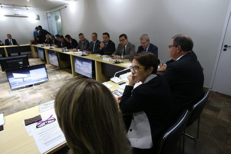 Raquel Cristina (centro) e Alceu Moreira (dir.) durante reunião da frente   Dida Sampaio / Estadão