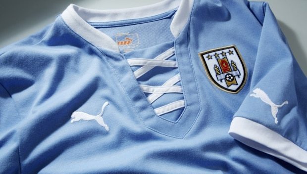 Uruguai apresenta camisa inspirada no uniforme olímpico de 1924 ... a4750fec96418
